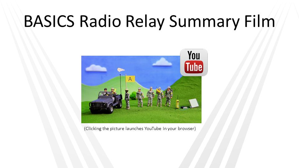 BASICS Radio Relay Summary Film (Clicking the picture launches YouTube in your browser)