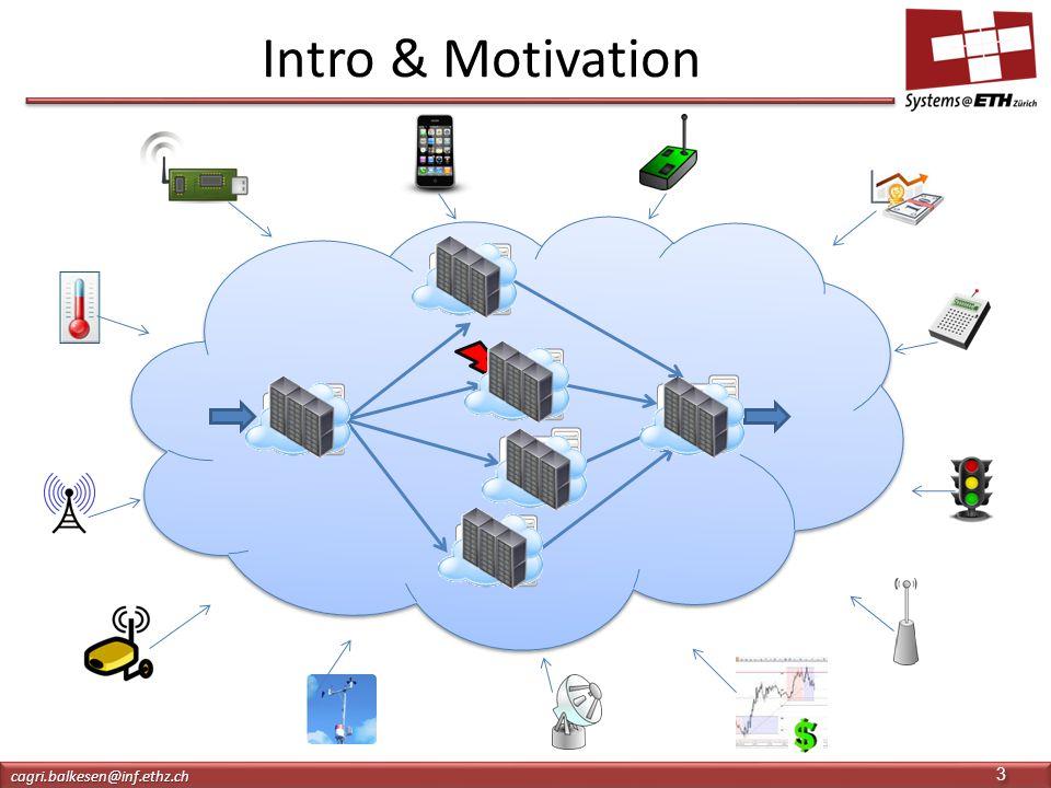 DSMS Intro & Motivation cagri.balkesen@inf.ethz.chcagri.balkesen@inf.ethz.ch 3 3