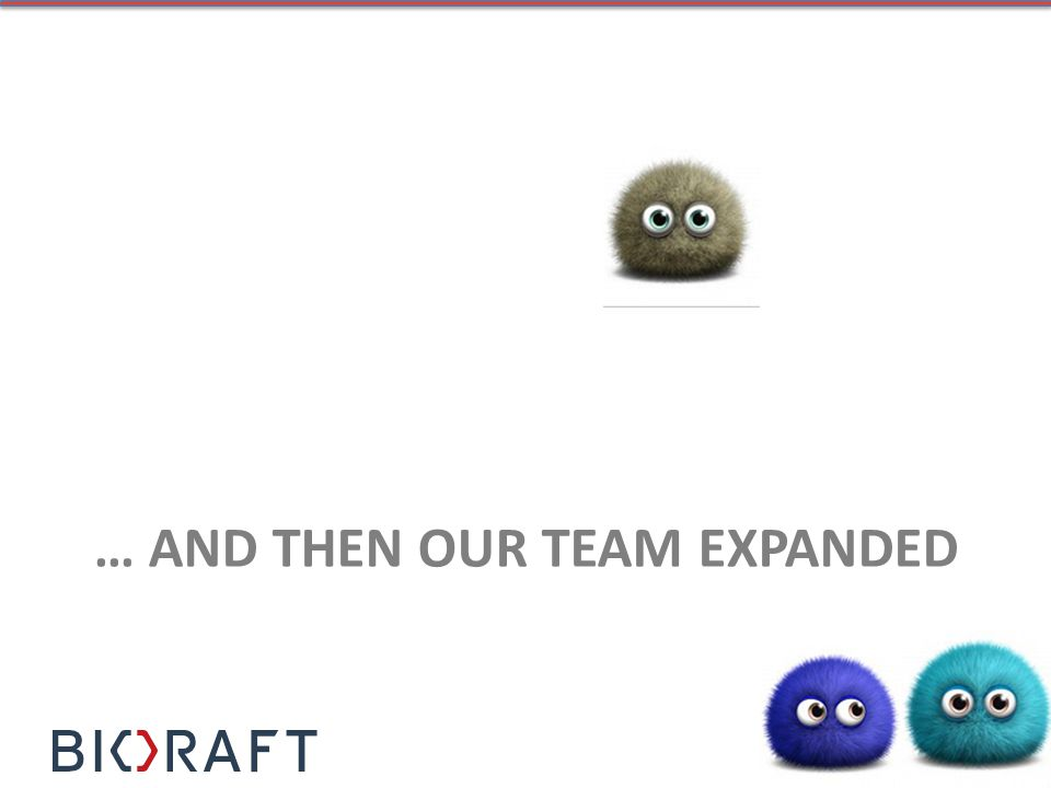 … AND THEN OUR TEAM EXPANDED