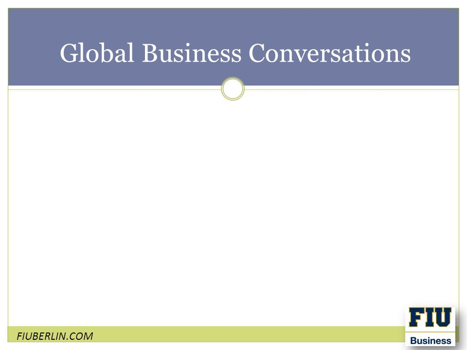 Global Business Conversations
