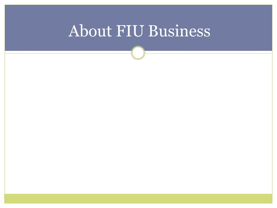 About FIU Business