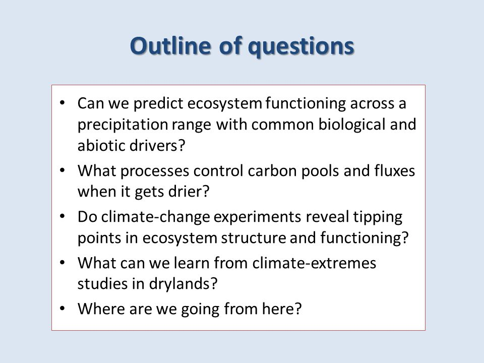 Kigel & Konsens Do climate-change experiments reveal tipping points in ecosystem structure and functioning?