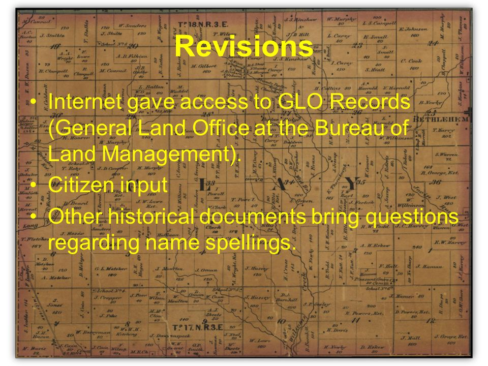 GLO Records Not a map Need knowledge of location or purchaser name.