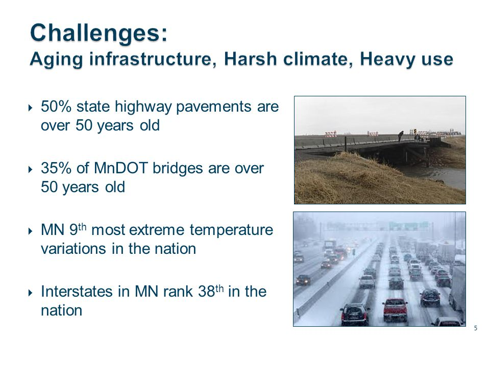 Performance-based design projects (Hwy 169/494, TH100 near Hwy 7) MnPASS Lanes Innovative Construction Methods – Maryland & Hastings Bridges Both projects benefited from 08 (Chapter 152) funding 16 Original bridge Float down the river 9/12/12 Completed bridge Lifted into place 60 hours later HASTINGS BRIDGE: $120M.