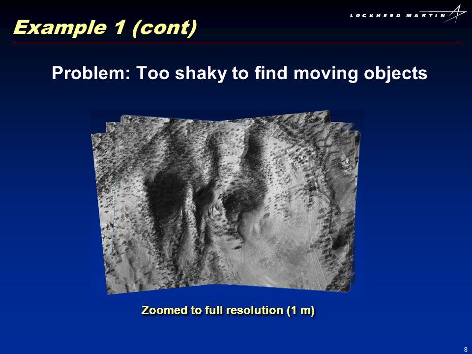 9 Outputs: Sensor camera models Images georegistered to DEM Platform trajectory Example 1: Results