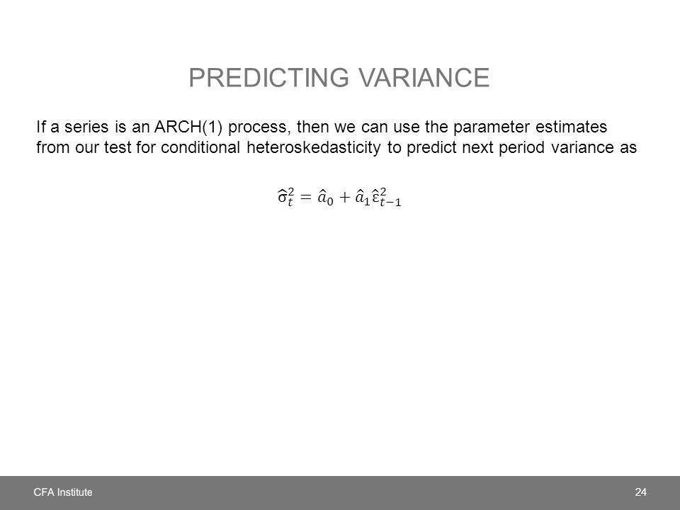 PREDICTING VARIANCE 24
