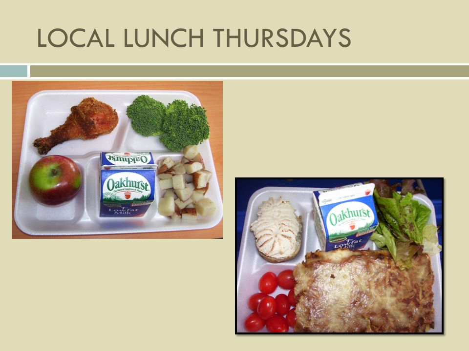 Programs Breakfast and Lunch Universal breakfast in 52 schools Fresh Fruit and Vegetable Program After school snack program After school supper program Summer Food Service Program Commodity Program Child and Adult Care Food Program Catering