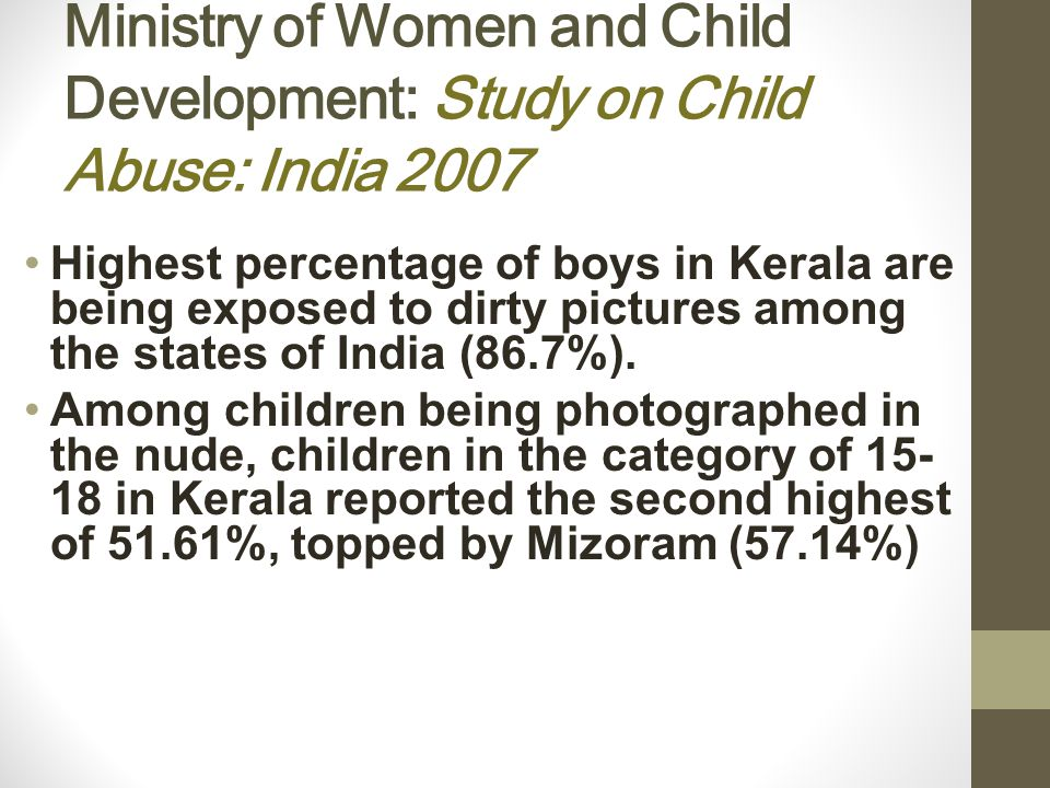 Kerala Most cyber crimes being reported are regarding Facebook and other social networking sites - defamatory/pornographic material posted on fake ids Various instances of sexual abuse of school girls being filmed on mobile camera have been reported Frequent chances of school children to visit pornographic sites at school and home.