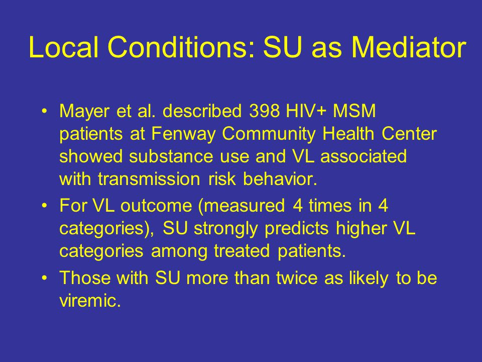 Local Conditions: SU as Mediator Mayer et al.
