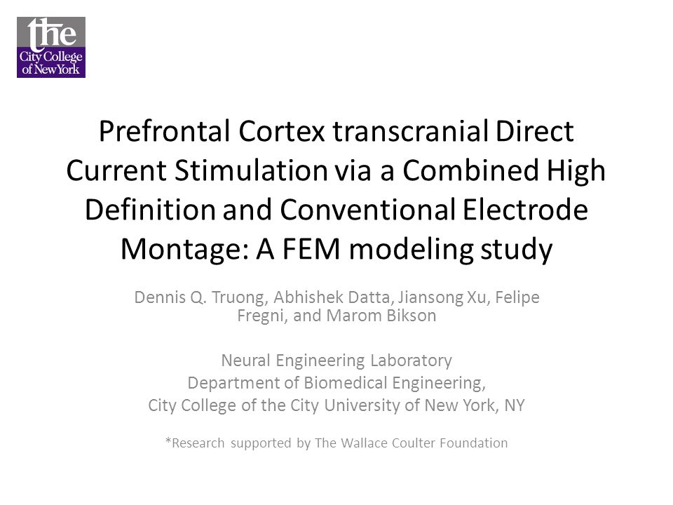 Prefrontal Cortex transcranial Direct Current Stimulation via a Combined High Definition and Conventional Electrode Montage: A FEM modeling study Denn