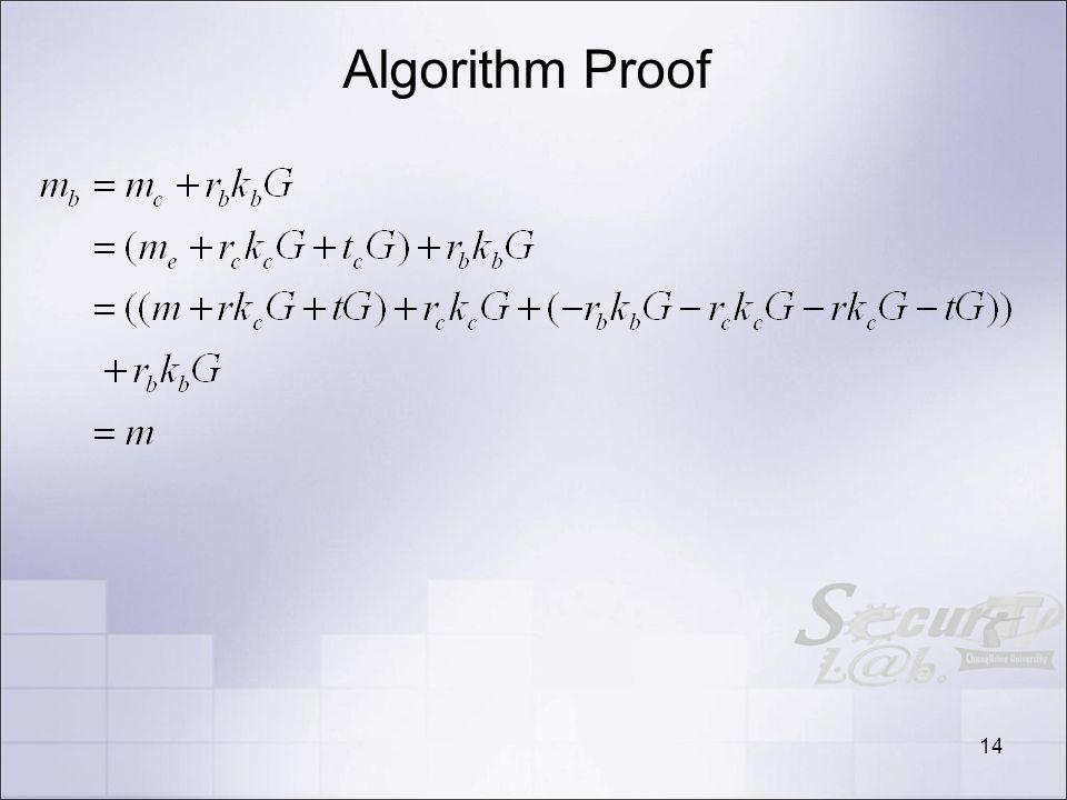 Algorithm Proof 14