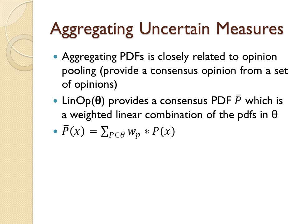 Aggregating Uncertain Measures