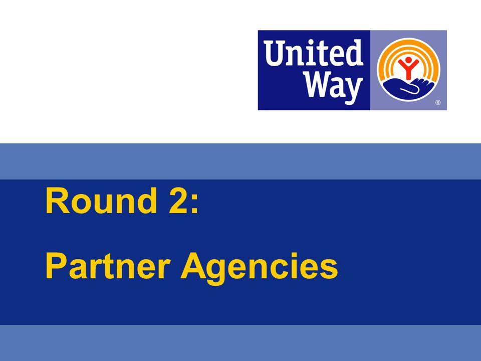 Round 2: Partner Agencies