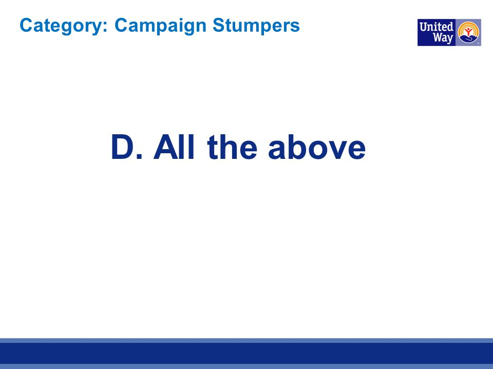 Category: Campaign Stumpers