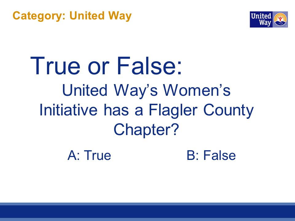 Category: United Way ANSWER.D.