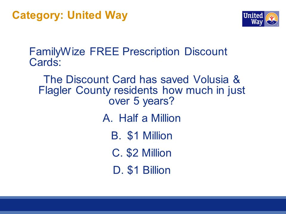 Category: United Way ANSWER.