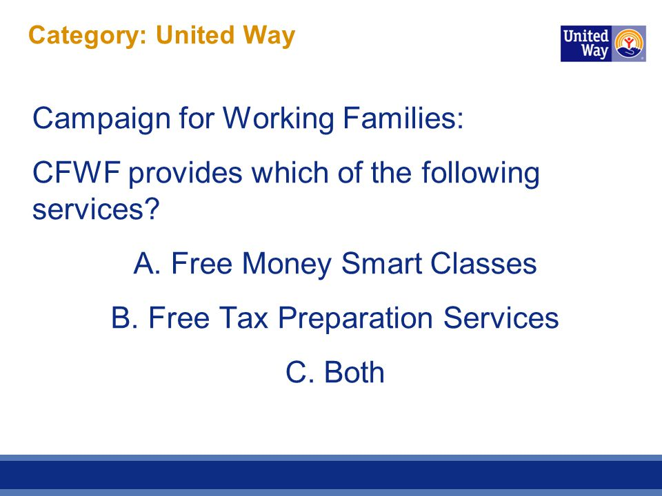 Category: United Way ANSWER.C.