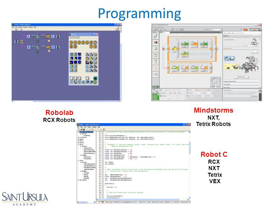 Programming Robolab RCX Robots Mindstorms NXT, Tetrix Robots Robot C RCX NXT Tetrix VEX