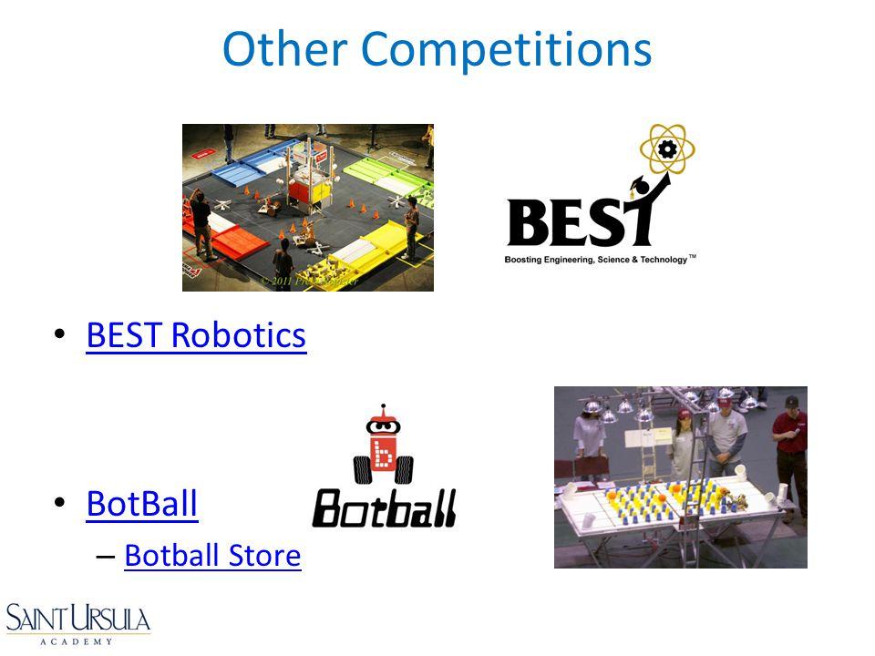 BEST Robotics BotBall – Botball Store Botball Store Other Competitions