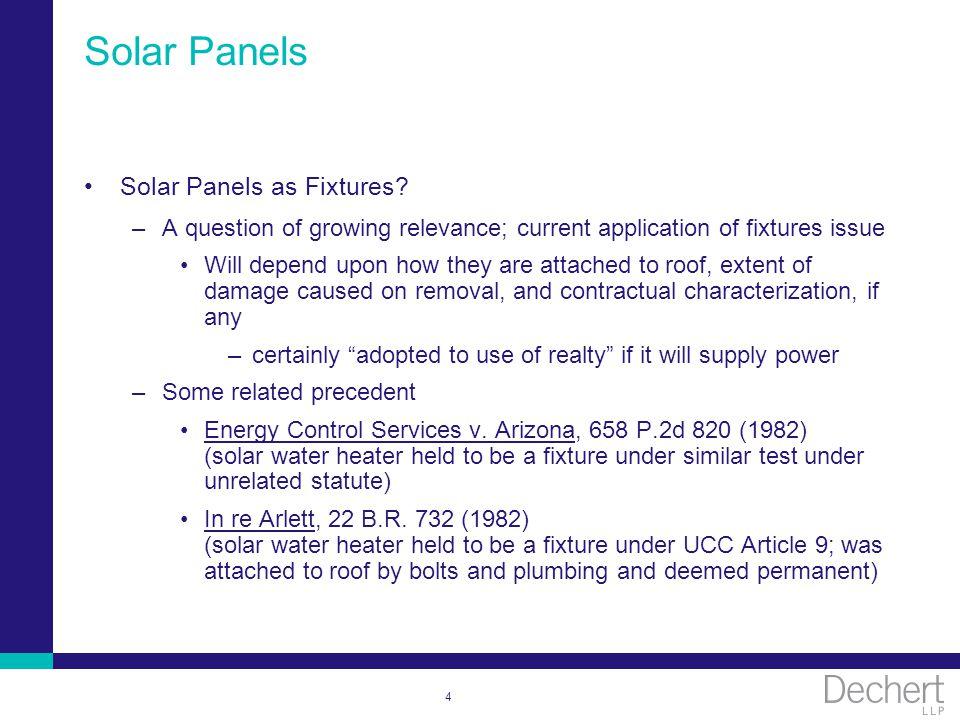 4 Solar Panels Solar Panels as Fixtures.