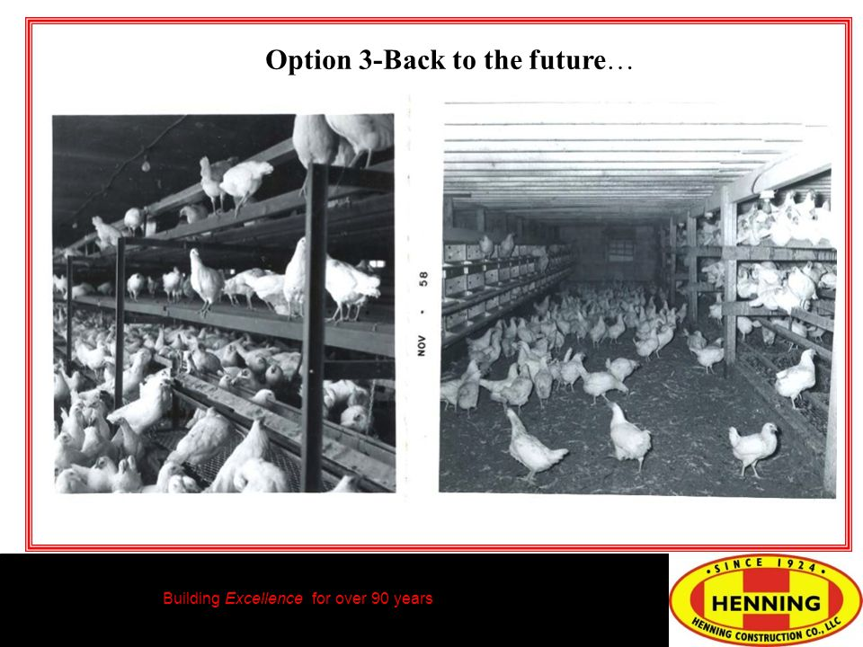 Building Excellence for over 90 years Option 3-Back to the future…