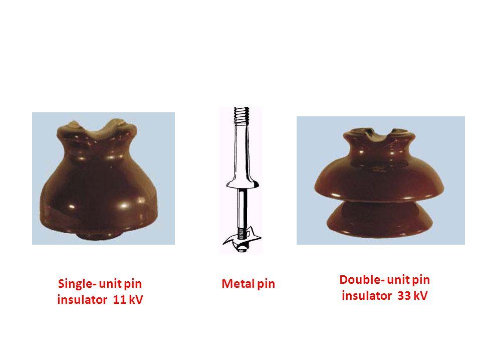 Single- unit pin insulator 11 kV Double- unit pin insulator 33 kV Metal pin