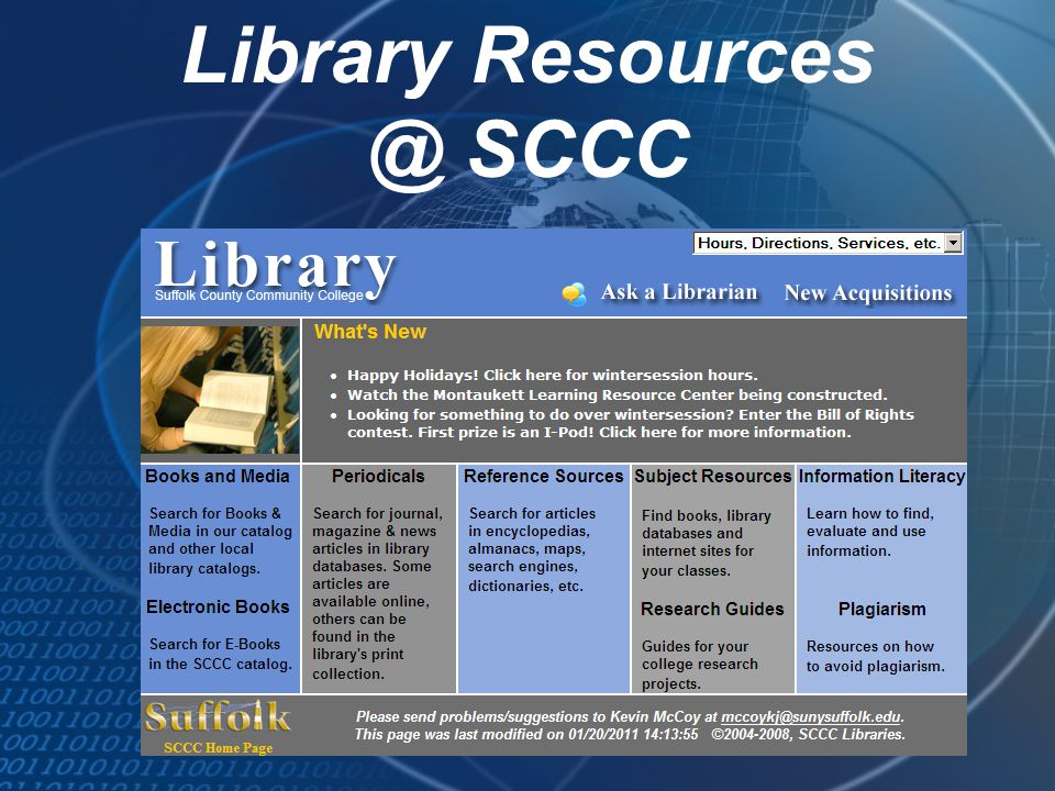 Library Resources @ SCCC