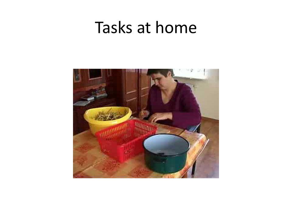 Tasks at home