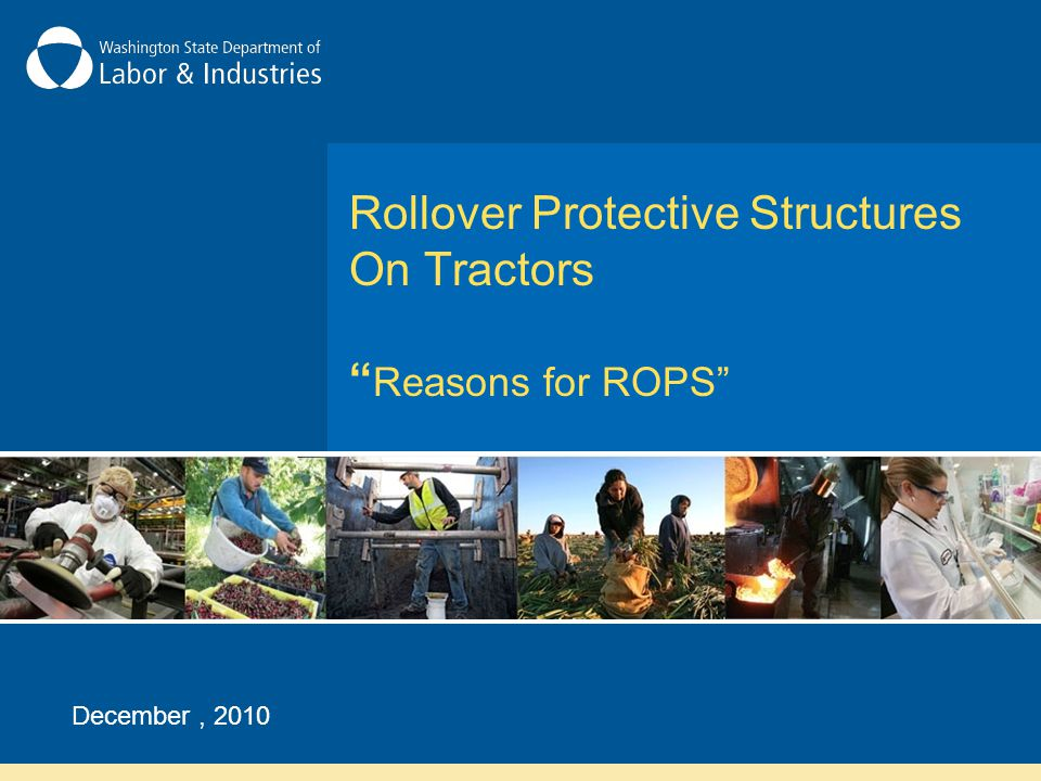 How Do ROPS Work.The next two slides show a tractor with ROPS in a side rollover.