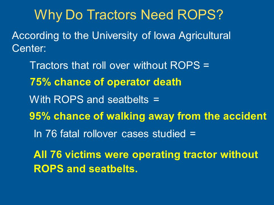 Why Do Tractors Need ROPS.