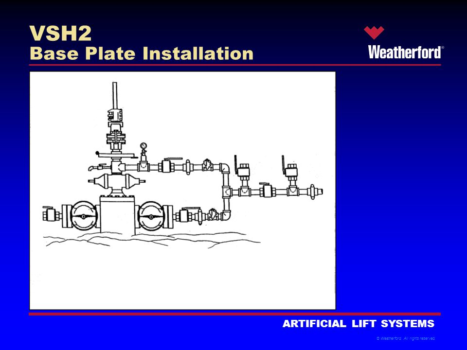 © Weatherford. All rights reserved. ARTIFICIAL LIFT SYSTEMS VSH2 Base Plate Installation
