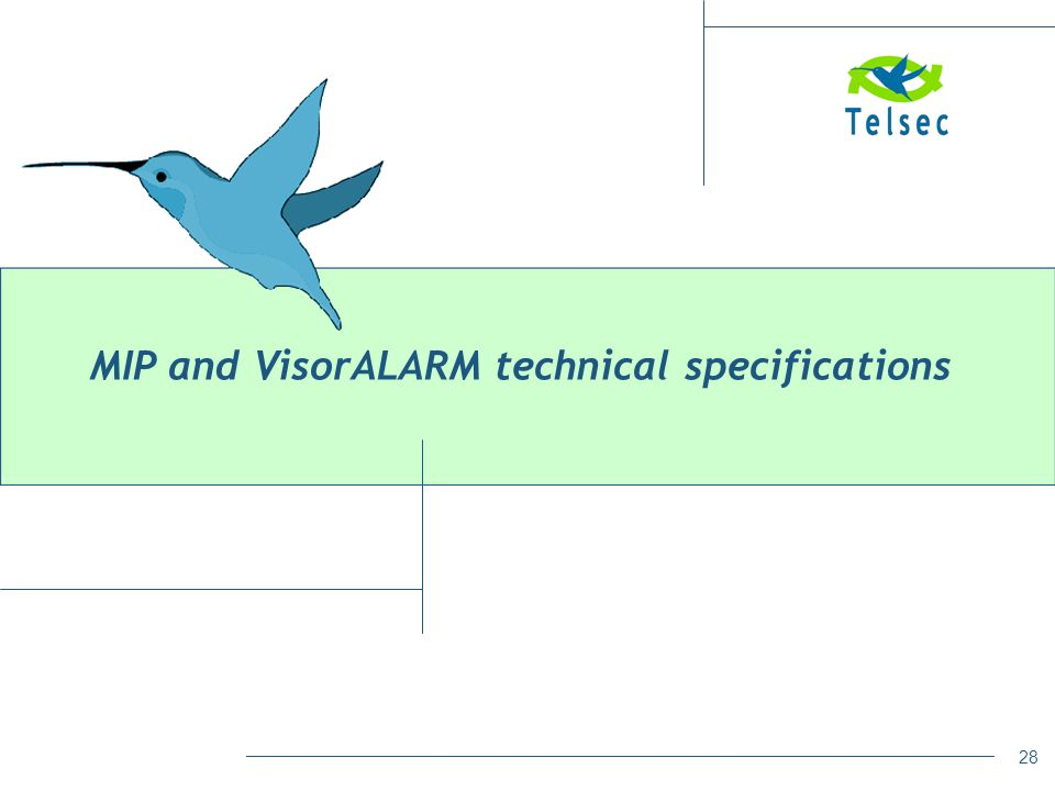 28 MIP and VisorALARM technical specifications
