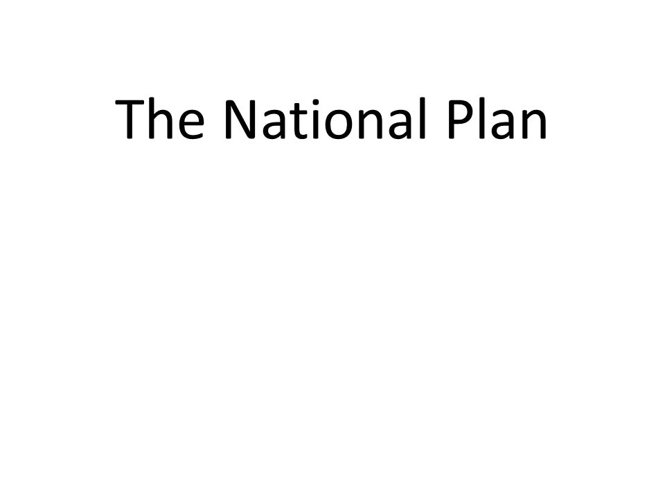 The National Plan