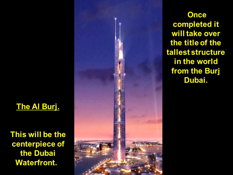 This is what downtown Dubai will look like around 2008-2009. More than 140 stories of the Burj Dubai have already been completed.