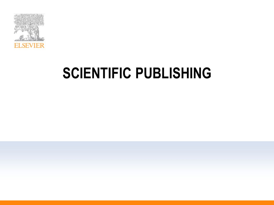 SCIENTIFIC PUBLISHING