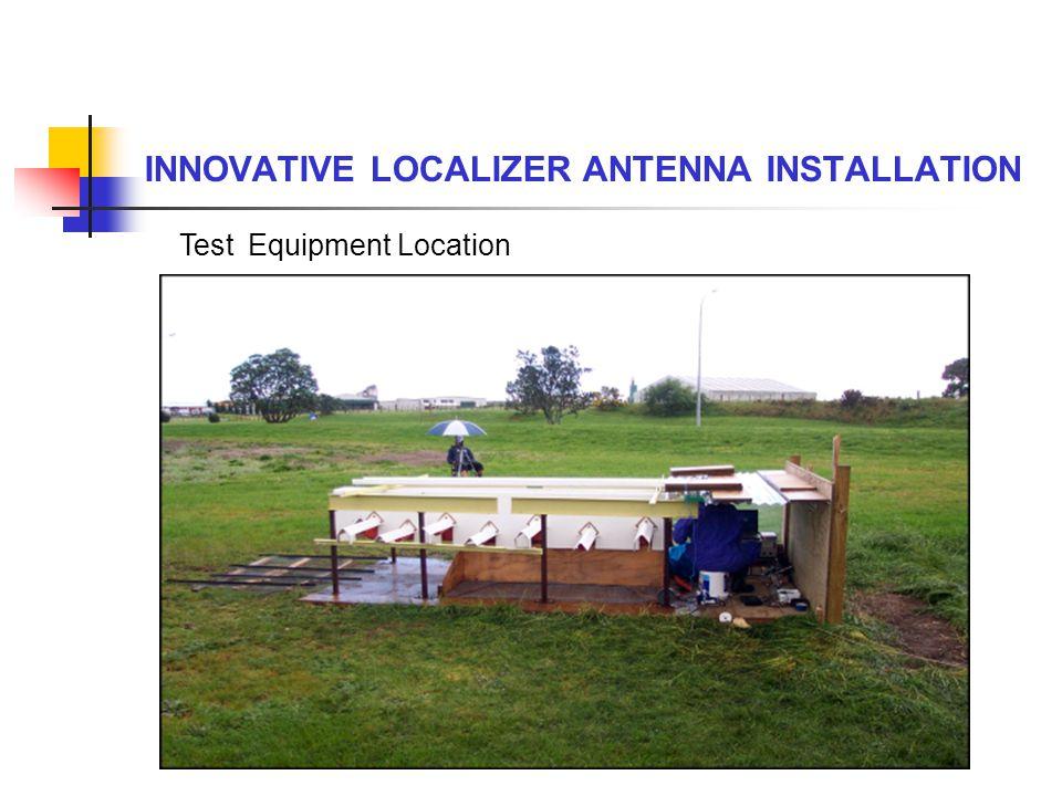 INNOVATIVE LOCALIZER ANTENNA INSTALLATION Test Equipment Location