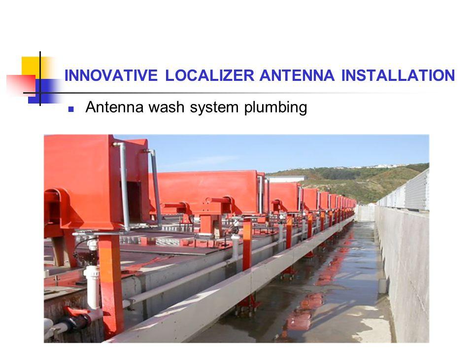 Antenna wash system plumbing