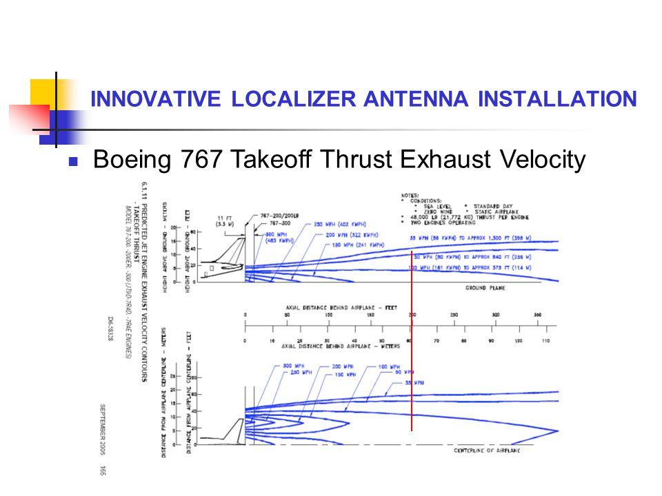INNOVATIVE LOCALIZER ANTENNA INSTALLATION Boeing 767 Takeoff Thrust Exhaust Velocity