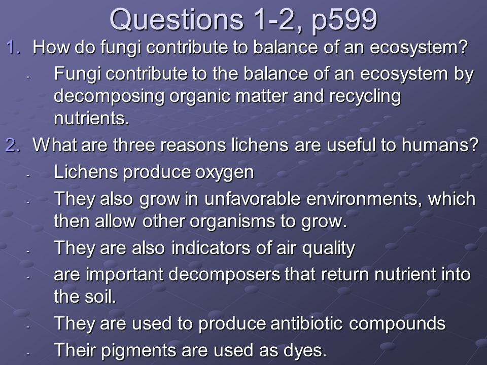 5-6, p622 5.Consider the characteristics of pollen grains.