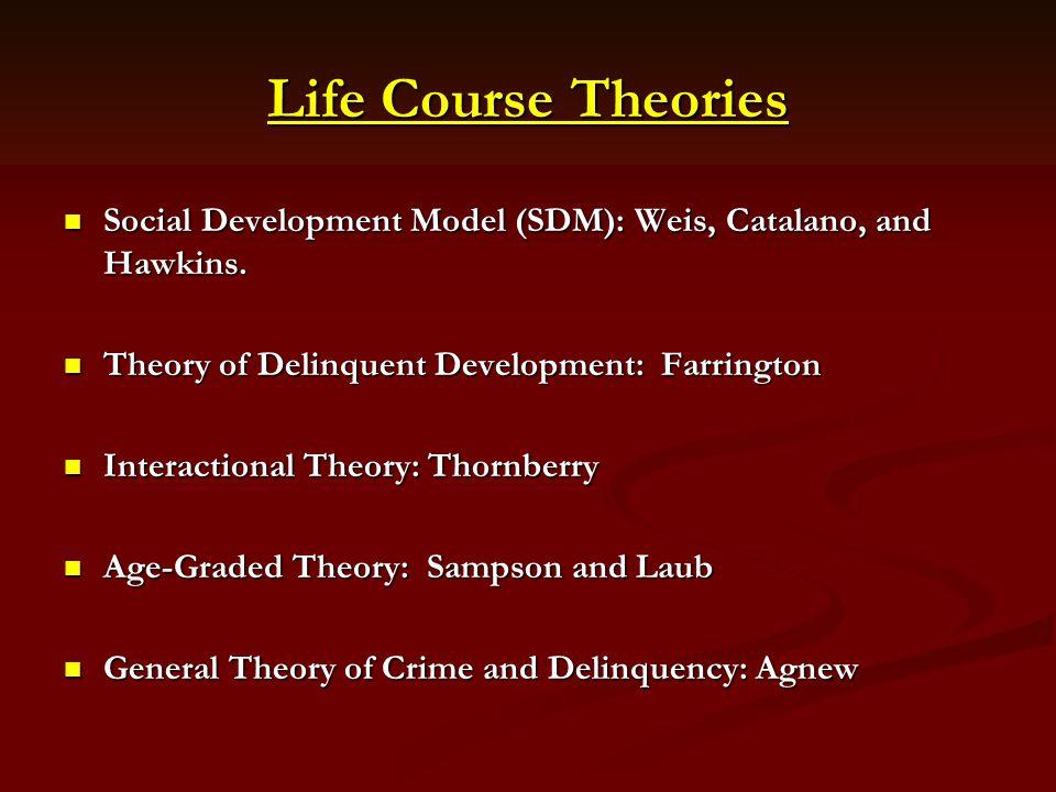 Life Course Theories Social Development Model (SDM): Weis, Catalano, and Hawkins. Social Development Model (SDM): Weis, Catalano, and Hawkins. Theory