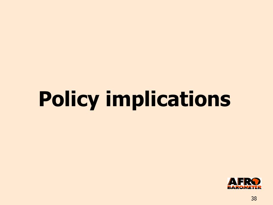 38 Policy implications