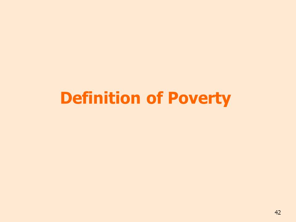42 Definition of Poverty