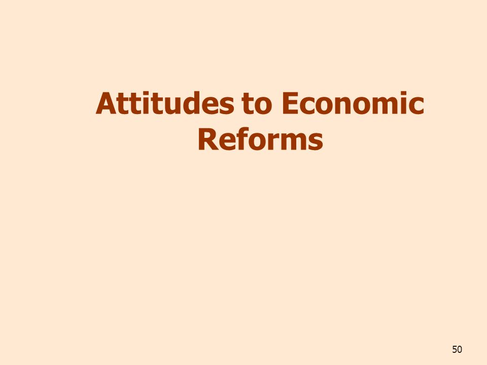 50 Attitudes to Economic Reforms