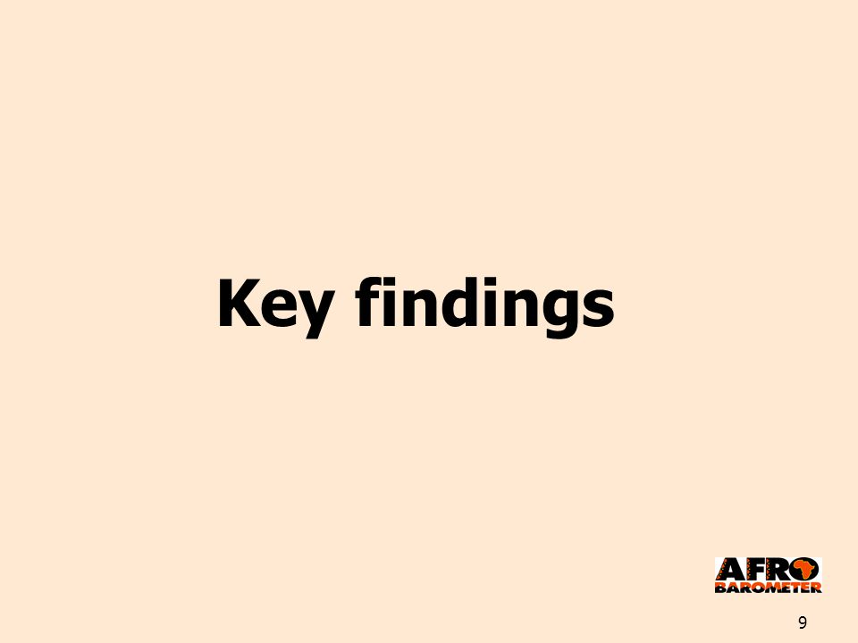 9 Key findings