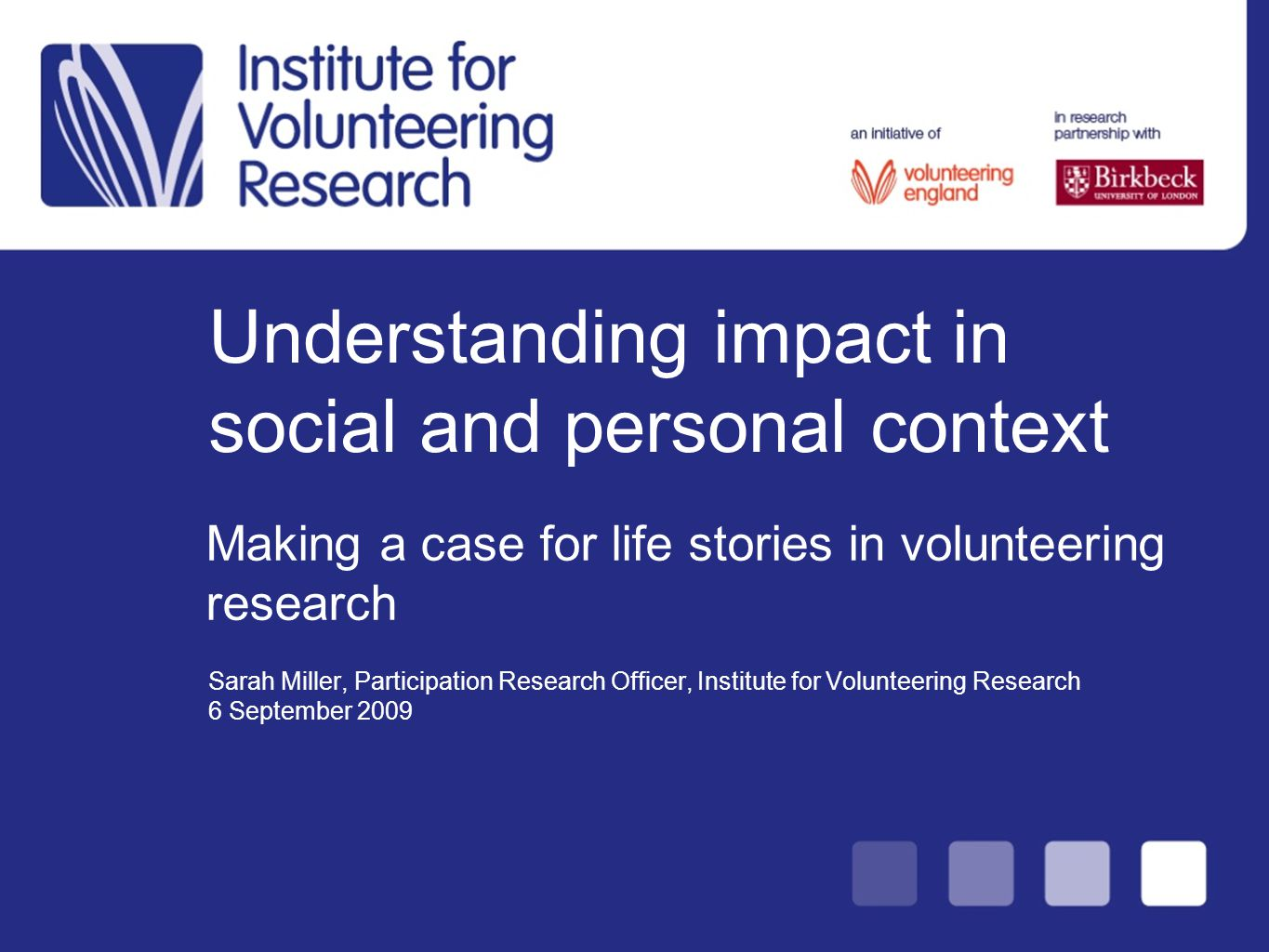 What can life stories contribute to volunteering research?…Learning from Pathways through Participation