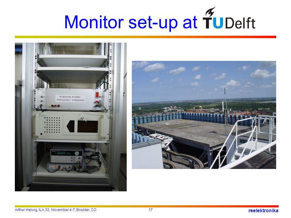 Arthur Helwig, ILA 32, November 4-7, Boulder, CO17 reelektronika Monitor set-up at