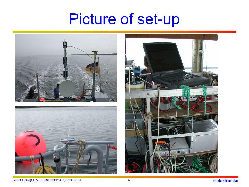 Arthur Helwig, ILA 32, November 4-7, Boulder, CO6 reelektronika Picture of set-up