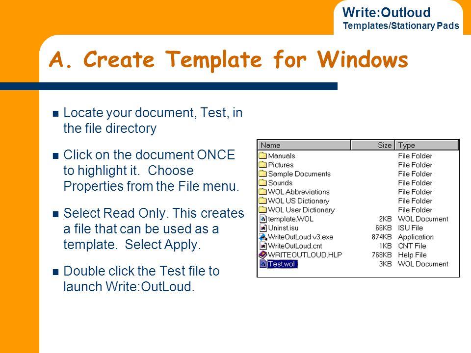 Write:Outloud Templates/Stationary Pads A.