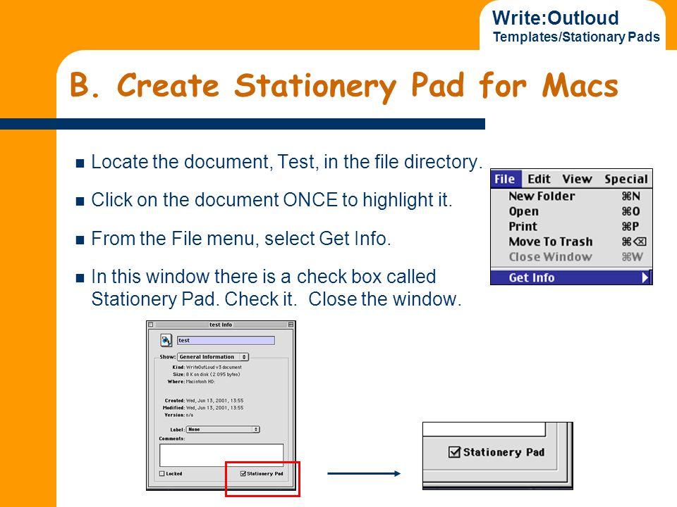 Write:Outloud Templates/Stationary Pads B.