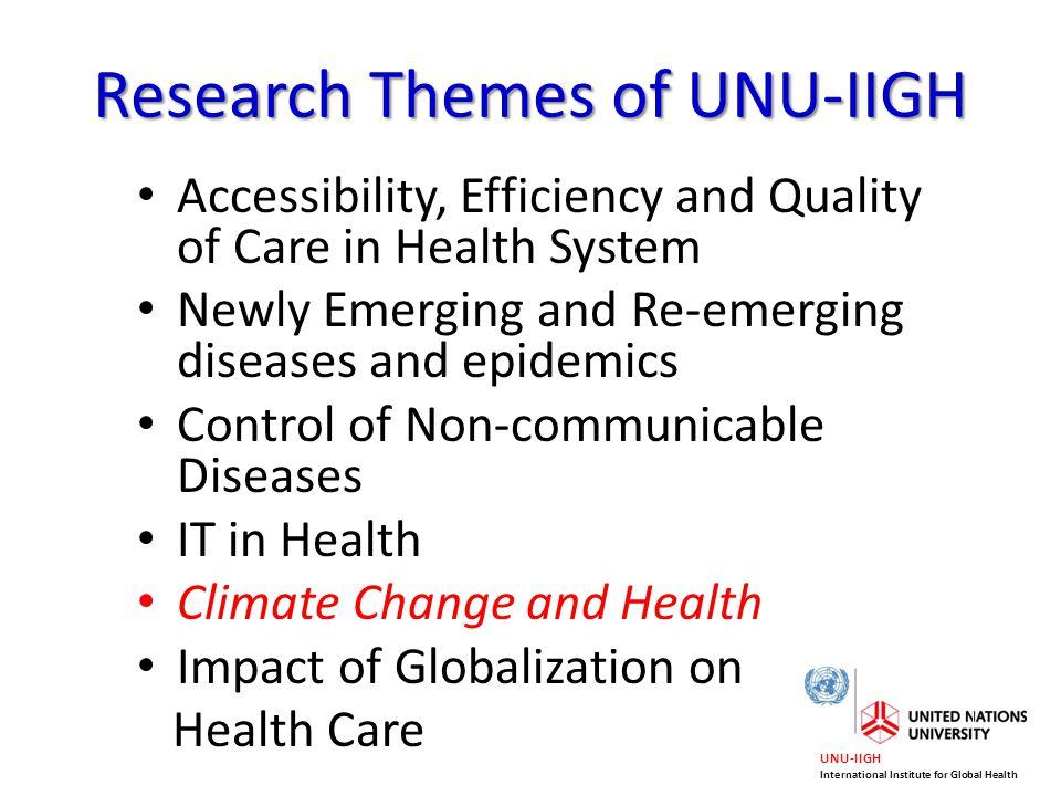 UNU-IIGH International Institute for Global Health Thank you